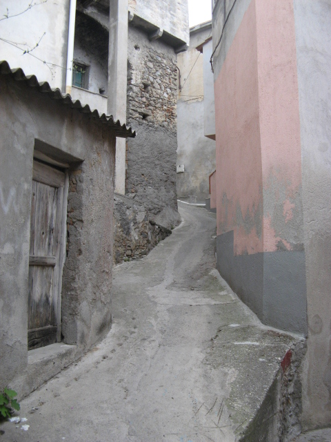 Sidewalk in Monasterace Superiore